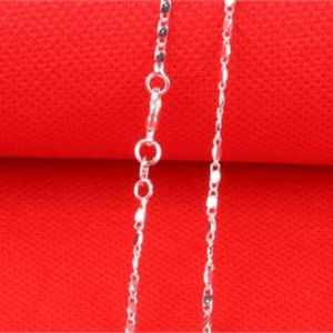 "Jewelry - 21"" Italian Sterling Silver Flat Wave Link Chain"
